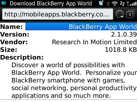 Download Lastest Bb App World