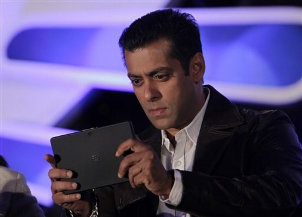 Image result for images of Salman Khan and  their mobile phone