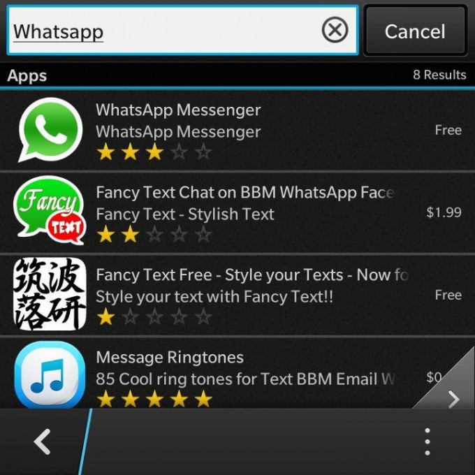 WhatsApp updated on Z10 & to release on BlackBerry Q10