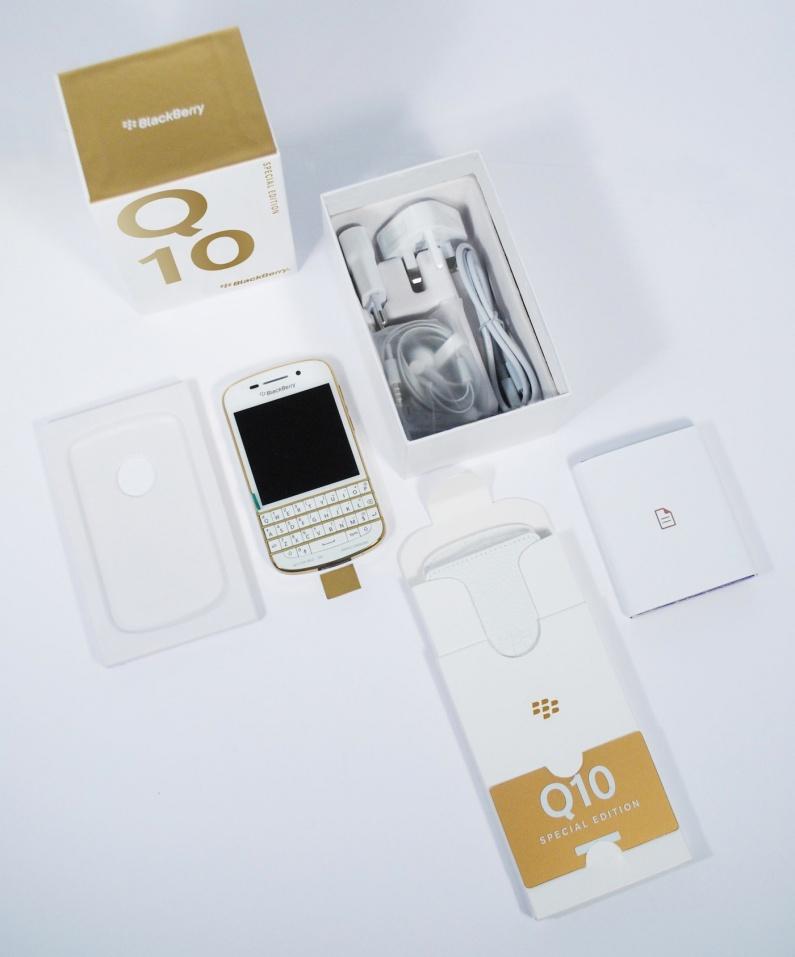 White & Gold BlackBerry Q10 goes on sale only in Dubai - BBin