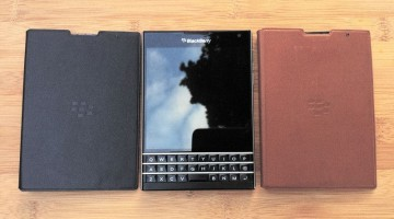 Leather flip cover case for the BlackBerry Passport